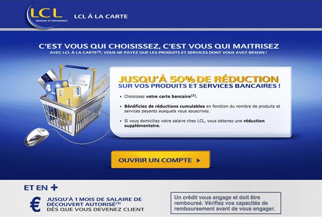 Site web de la banque en ligne Banque LCL
